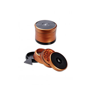 After Grow - Solinder Alu-Grinder 4-tlg., orange, 62mm Durchmesser