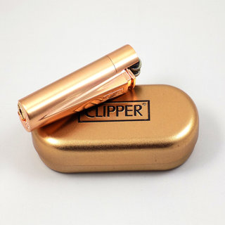 Clipper - Metall Gasfeuerzeug Bronze